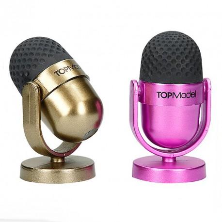 Sacapuntas y goma de borrar microfono - TOP MODEL - celeste