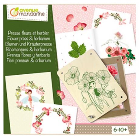 Caja creativa - Prensa de flores y herbario - Avenue mandarine