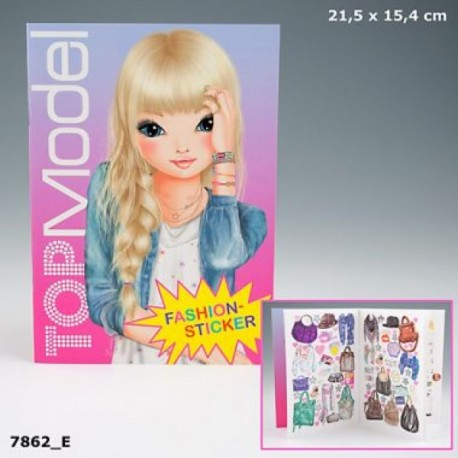Libro Fashion-stiker Top Model