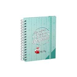 Cuaderno A5 con goma elástica Mapache y Zorro de Lovely Story