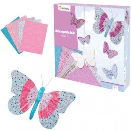 Décopatch Butterfly Avenue Mandaríne
