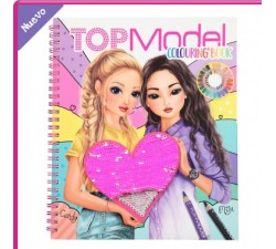 Libro para Colorear con Lentejuelas Top Model