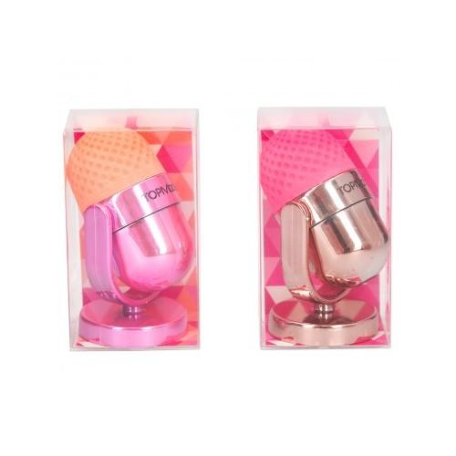 Sacapuntas y goma de borrar microfono - TOP MODEL - Rosa