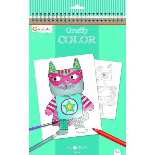 Avenue Mandarine - Designs graffy Libro para Colorear
