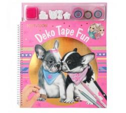 Libro para colorearcon cintas adh. decorades DOG Top Model