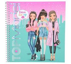 Cuaderno con calcomanías TOPModel Dress me up