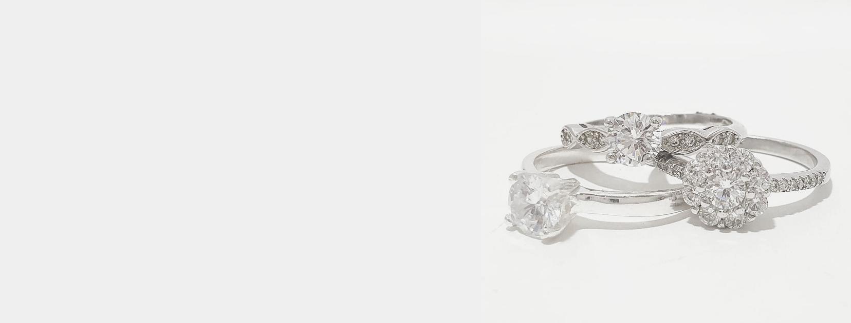 anillos plata y circonita
